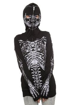 Glow-In-The-Dark Skeleton Full Zip Hoodie $39.50