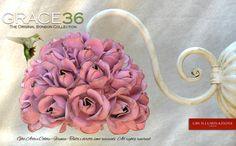 Grace36 – Wall Sconce Small Grace with 36 roses | GBS Illuminazione – Ferro Battuto – Wrought Iron – GBS Arte e Colore