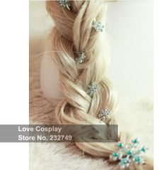 Frozen Hair Accessories /lot Hairpin Elsa Cosplay Princess Jewelry Snowflake Hair Clips For Girls Kid Wedding Party