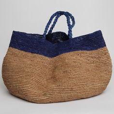 Bicolor bag handmade
