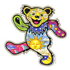 Grateful Dead - Dancing Bear Bumper Sticker on Sale for $2.99 at HippieShop.com