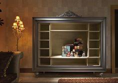 Испанская мебель ручной работы > Дизайнерская мебель > Коллекция Классика > Лола Гламур (Испания) Книжный шкаф, мебель под телевизор LG487