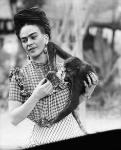 Frida loved animals. Shouldn't be surprising, given some of her portraits. :)