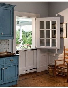 "Here's another dutch door.  (I imagine the screens won't be ""prowler proof"" on most of these for overnight opening.)  Another solution to door problem is to simply have screened windows in strategic cross ventilation locations.  Dutch Door or Traditional Door? - Houzz"