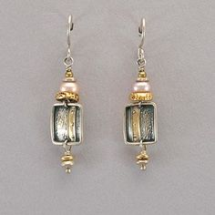 Tabra Sterling Silver, Gold Vermeil, and Pearl Earrings
