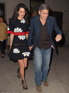 Night out with the in-laws: The Clooney's dined at Caravaggio's restaurant on the Upper Ea...