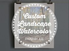CUSTOM FALL LANDSCAPE WATERCOLOR — Paper by JLee Fall Landscape, Watercolor Landscape, Watercolor Paper, Yellow Painting, Custom Paint, Paper Goods, Custom Design, Autumn Scenery, Arches Watercolor Paper