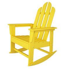POLYWOOD® Long Island Adirondack Rocking Chair | Wayfair   $329 + FS
