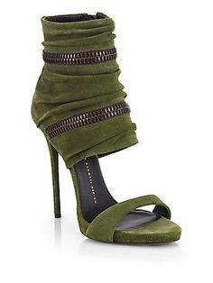 Army green. Nothing ingonito about these though. $1175 Giuseppe Zanotti | Saks Fifth Avenue