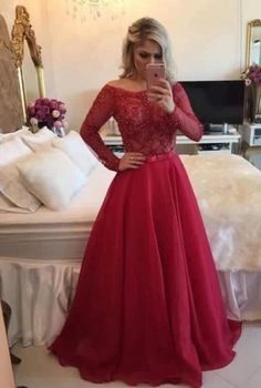 Forceful Long Sleeve Mermaid Evening Dresses With Detachable Skirt Lace Beading Sequin Red Arabic Kaftan Formal Women Evening Gown Fine Quality Weddings & Events