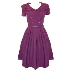 Retro Style Dress - I want 10 of these in 10 different colors!