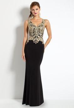 Metallic Embroidered Dress