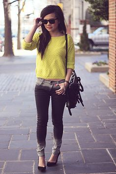 How to wear ombre jeans | Fashion Inspiration Blog