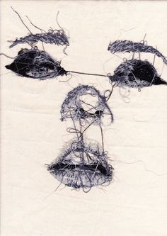 "Side Stitched Face Postcard - Postcard Print - Hand Embroidery - Illustration - Portrait Hand Embroidered Face ""the wrong side"" Postcard by Louise JonesHand Embroidered Face ""the wrong side"" Postcard by Louise Jones Bordados E Cia, Art Du Fil, Postcard Printing, Illustration Mode, Textile Fiber Art, Thread Art, A Level Art, Embroidery Art, Portrait Embroidery"