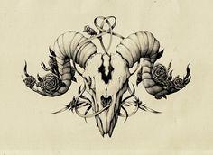 The Skull Drawing Art Ram