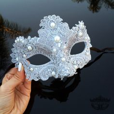 Masquerade Mask, Masquerade Ball Masks,  Silver Lace Mask, Lace Mask, Mardi Gras Mask, Mardi Gras Mask, Masquerade Ball Mask with Pearls by 4everstore on Etsy https://www.etsy.com/listing/217632631/masquerade-mask-masquerade-ball-masks