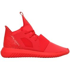 Adidas Originals Women Tubular Defiant Neoprene Sneakers ($150) ❤ liked on Polyvore featuring shoes, sneakers, red, adidas originals trainers, adidas originals shoes, adidas originals sneakers, rubber sole shoes and neoprene shoes