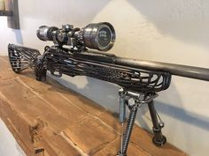 Rifle Replica Scrap Metal Sculpture – metal of life
