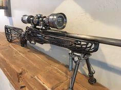 Rifle Replica Scrap Metal Sculpture – metal of life Sculpture Stand, Sculpture Metal, Art Sculptures, Sculpture Ideas, Welding Art Projects, Metal Art Projects, Metal Crafts, Metal Welding, Welding Gear