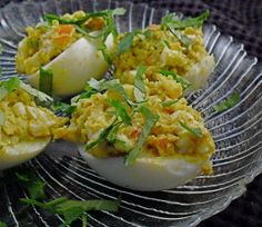 Curry Stuffed Eggs.