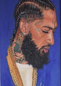 Black Love Art, Black Girl Art, My Black Is Beautiful, Art Girl, Small Canvas Prints, Tupac Art, Lauren London Nipsey Hussle, Rapper Art, Black Art Pictures