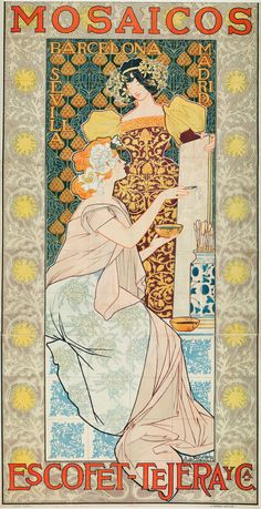 Mosaics by Escofet-Tejera and Co., Spain, 1900. Artist: Alexandre de Riquer