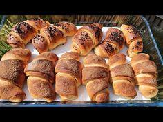 VIDEORECEPT: Sladké maslové pečivo - Domáce kysnuté pečivo lahodnej maslovej chuti s chrumkavou kôrkou a jemnou striedkou. Kysnuté pečivá zbožňujem a toto patrí medzi moje TOP ;-) Hot Dog Buns, Hot Dogs, Bread, Food, Basket, Brot, Essen, Baking, Meals
