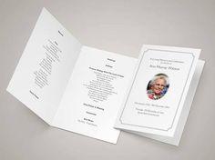 28 Best Funeral Program Templates Images On Pinterest Program