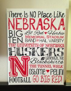 9+x+12+Subway+Art+Canvas++UNL+Nebraska+by+CreationsbyCLM+on+Etsy,+$25.00