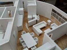 maqueta mobiliario Maquette Architecture, Architecture Model Making, Interior Architecture, Interior Design Presentation, Interior Minimalista, Arch Model, Model Homes, Little Houses, Design Model