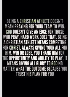 I'm printing this out for every Christian athlete I know. Here you go Amber Jones, my Christian athlete.