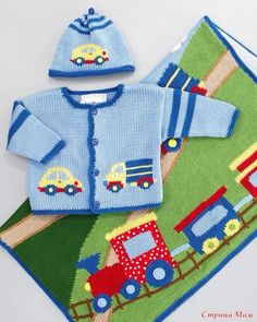 """Elemegigöznuru """"Trains,planes and Automobiles ✈"""", """"This post was discovered by Jud"""" Baby Knitting Patterns, Knitting For Kids, Baby Patterns, Free Knitting, Baby Boy Sweater, Knit Baby Sweaters, Cardigan Bebe, Baby Cardigan, Diy Crafts Knitting"""
