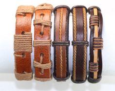 5 Piece Handmade Leather Bracelet Set Men's Leather Bracelet Women's Braided Leather Wrap Braclet BST-531