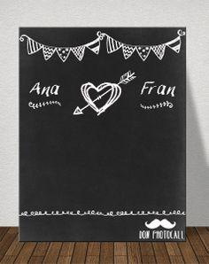#Photocall tiza  #photobooth #chalkboard #wedding por solo 70€, gastos de envío incluidos.