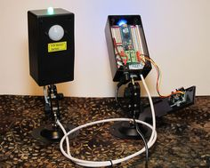 Two Adafruit PIR sensors with Neopixels and arduino micro.