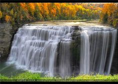 Gorgeous Middle Letchworth Autumn Waterfall