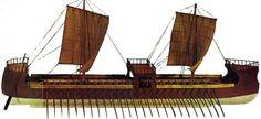 Le dromon devint peu à peu le principal bâtiment de combat. Il a mesuré de 30 à 50 mètres de longueur et son équipage était de 100 à 300 hommes.