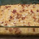 Amish Breakfast Casseole 4 1/2 stars and 1,053 reviews.  I made this with and without the potatoes (when I'm cutting carbs) and it is delish. I'm made it with sausage in place of the bacon as well.  Take this to your next brunch and you will be asked over and over for this recipe!