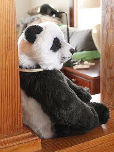 Realistic panda bear, Joanne Livingston, Desertmountainbear.