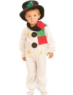 Schattige Sneeuwpop Kind Kostuum