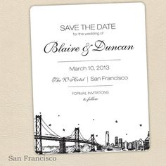 San Francisco SAVE THE DATE by PixieChicago on Etsy, $5.00