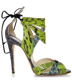 Uma Snakeskin Sandals