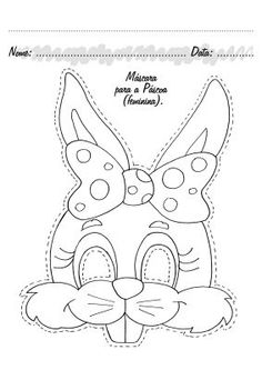 Malvorlage: Coloring pages for kids mask Easter Projects, Easter Crafts For Kids, Easter Colouring, Coloring Pages For Kids, Kids Coloring, Free Printable Coloring Pages, Free Coloring Pages, Easter Art, Easter Bunny