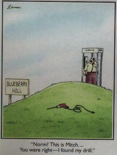 ...On Blueberry hill.