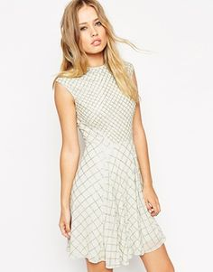 Needle & Thread Embellished Circle Mesh Dress
