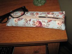 zippered case for lipstick, glasses etc.