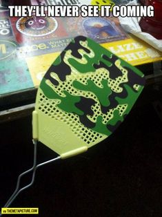 Camouflaged flyswatter…<<< the funny thing is, I have the same exact one! Aha