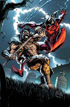 Scarlet Spider Vs Kraven the Hunter - Cover by Ryan Stegman Marvel Comics, Ms Marvel, Marvel Heroes, Spiderman Marvel, Superman, Avengers, Marvel Comic Character, Marvel Comic Books, Comic Book Characters