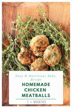 Looking for a dinner idea for the whole family? Try our delicious chicken meatballs! They are sure to please even the pickiest of eaters. Chicken Meatballs, Yum Yum Chicken, Baby Food Recipes, Finger Foods, Nova, Beef, Homemade, Dinner, Ethnic Recipes