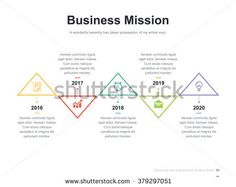 flat business presentation vector slide template with up and down triangle diagram